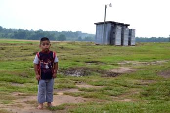 A child at a migrant labor camp