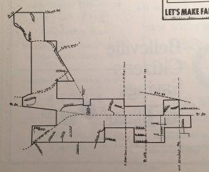 Dad's hand-drawn map of Fairview , one of his contributions in helping to incorporate the town in 1970