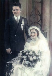 James and Bernice Kalish wedding photo. 1933