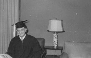 Dad on college graduation day. 1958.
