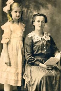 Ona Kutkiten and mother Marcela Sorockaite