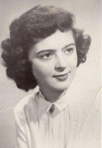 Lorraine Barbara Kalish, high school graduation photo. 1951