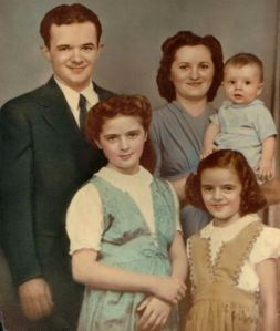 James and Bernice Kalish with children Lorraine, Jackie, and Jim.